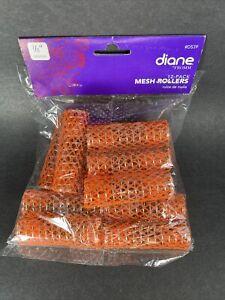 """Diane Mesh Hair Rollers Orange Size 7/8"""" Diameter X 2-1/2"""" Long"""