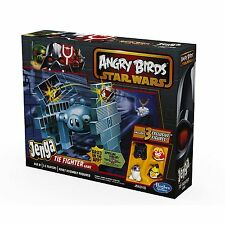 STAR WARS ANGRY BIRDS JENGA TIE FIGHTER GAME WITH 4 STAR WARS BIRDS HASBRO