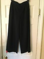 NWT ST. JOHN Milano Wool Knit Cropped Pants Caviar Size 0 $595.