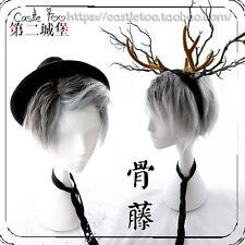 Gothic Lolita Harajuku Men's Gray Mixed Silver Gradient Cosplay Daily Short Wig