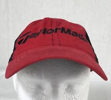 Taylor Made Burner Baseball Cap Hat Strap Back Curved Bill Red Black Cotton