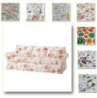 Custom Made Cover Fits IKEA EKTORP Sofa, Three-Seat Sofa Cover, Patterned Fabric
