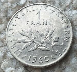 1 Franc 1960 France Coin  By coin_lovers