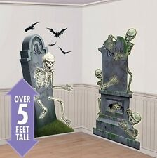 Scary Halloween Scene Setter Add On - Graveyard Raiders Party Decoration