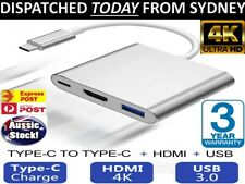 3IN1 USB 3.1 Type-C USB-C to Female HUB 4K HD HDMI Data Charging Cable Adapter .