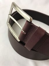 Tumi Cordovan Red Leather Dress Belt Rugged Golf Casual Silver Vtg 44 46 XL XXL