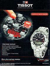 PUBLICITE ADVERTISING  016  2009  Tissot montre Touch Expert