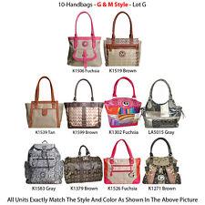 Wholesale Lot - 10 Women's G & M Style Handbags - Designer Purse & Luggage Bags