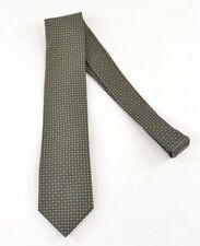 Canali NWOT Silk Neck Tie In Green Browns Gray Geometric Design
