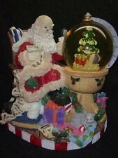 Santa Sitting Checking His Christmas Naughty & Nice List Snow Globe NO WATER
