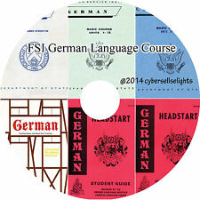 66 Hours German Language Course FSI for Diplomats-complete MP3 Audio on 1 DVD