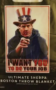 Do Your Job Bill Belichick New England Patriots Super Soft Throw Blanket 48x60