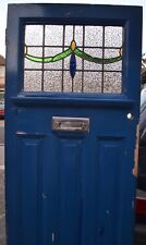 British leaded light stained glass front door. 1920s/30s. R565. DELIVERY!!!