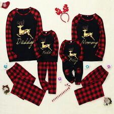 Yogogo Weihnachten Schlafanzug Familien Pyjama Set Lang Nachthemd Nachtw/äsche Hausanzug mit Davidshirsch Schlafanzug Warm Weihnachtspyjama Freizeitanzug Geschenk f/ür Erwachsene Kinder
