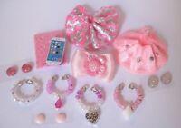 Littlest Pet Shop LPS 12 PC Clothes PINK Accessories Custom Skirts Bow Necklaces