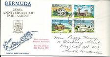 1970 FDC 350th Parliament set 4  addressed to Australia FDI 12 October 1970