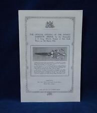 The Official Opening of the Sydney Harbour Bridge NSW 1932 Facsimile Edition