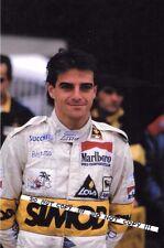 9x6 Photograph, Alessandro Nannini , Minardi Portrait   1986 Grand Prix Season