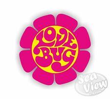 Volkswagen Love Bug Flower Pink Beetle Car Van Sticker Funny Decal Stickers VW