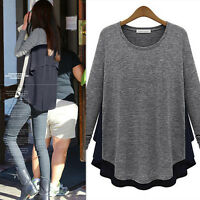 Fashion New Ladies Embroidery Lace Long Sleeve Top Shirt Blouse T-shirt Size8-20