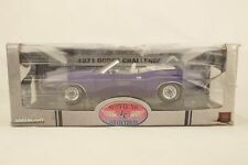1:18 Greenlight supercar1 Collection 1971 Dodge Challenger Convertible prune Fou