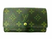 Auth Louis Vuitton Monogram Porte Monnaie Zip M61735 Bifold Wallet Good 86442