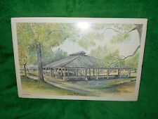 "Patty Harwell Mauney signed print ""The Arbor"" Rock Springs Campground Denver NC."