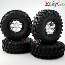 4pcs RC 1.9 Crawler Tires 108mm w/ 1.9 Alum Beadlock Rims For RC Crawler Upgrade