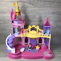 FISHER PRICE LITTLE PEOPLE DISNEY PRINCESS DANCNG MUSICAL PALACE FIGURES WORKING