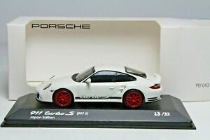 Porsche 911 997 II Turbo S weiß Japan Edition Minichamps 1:43 OVP 23/33 pcs.!