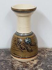 Alvin F. Irving Vintage Studio Pottery Bud Vase Blackberry Pattern