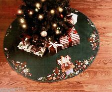 Bucilla Discontinued CUPCAKE ANGEL Felt Christmas Tree Skirt Kit 86243