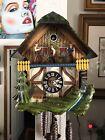 Vintage Black Forest German Cuckoo Clock With Waterwheel Musical & Animated