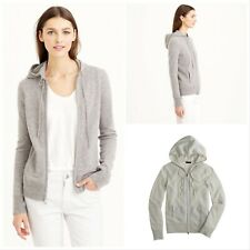 Laurie Felt Heather Stone Cashmere Blend Hoodie Sweater Seam Detail New