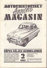 Motorhistoriskt Magasin Annons Swedish Car Magazine 2 1983 Chevy 032717nonDBE