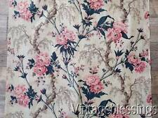 "Early 1900s Antique Floral Fabric Cotton 59"" x 33"""