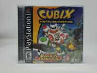 Cubix Robots for Everyone Playstation PS1 Black Label Complete