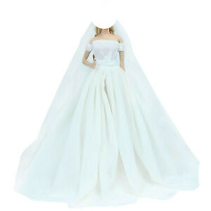 Herrliche Kleid Partei Rock Ballkleid Formelle Kleidung Für Barbie Puppen Gabe