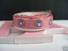 "3/8"" (9mm) Printed Grosgrain Ribbon  - By the Meter-  #4364 Stars & Stripes"