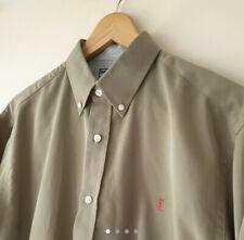 Men's Yves Saint Laurent shirt (YSL) Khaki, Size Medium- Fits Like A Large