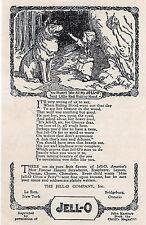 "JELL-0 1920s LITTLE RED RIDING HOOD Wolf Vtg 6x9"" Reprint AD John Martins Book"