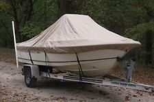 """NEW VORTEX TAN/BEIGE 20'6"""" CENTER CONSOLE BOAT COVER, FOR UP TO 54"""" TALL CONSOLE"""