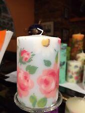 Cath Kidston Nuova Primavera design margherite & rose decorato a mano pilastro candela 50hrs