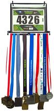 Medal hanger, display and bibs holder, race number for sport, running, marathon