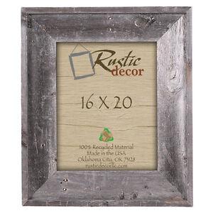 "16x20 - 4"" Wide Premium Reclaimed Rustic Barn Wood Wall Frame"