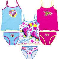 Neu Garnitur Unterwäsche 2tlg. Set Mädchen Hemd Slip Disney Soy Luna 116-152#140