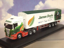 OXFORD OO SCANIA CAB JOCKEY TRUCK & TRAILER EDDIE STOBART JAMES DOYLE 76SHL12WF