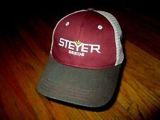STEYER SEEDS HAT Meshback Trucker Cap Tiffin Ohio Agriculture Supply Farming NOS