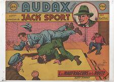 AUDAX première série n°66. BOB DAN.  Ed. Artima 1952. Format oblong