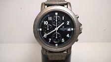 Junghans Titanium Limited Military 1/20 Sec Quartz Chronograph; New Bracelet